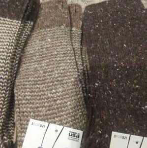 3 pairs of boot socks